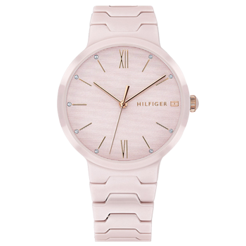 090c1dbef7f Relógio Tommy Hilfiger Feminino Cerâmica Rosa - 1781957R  790