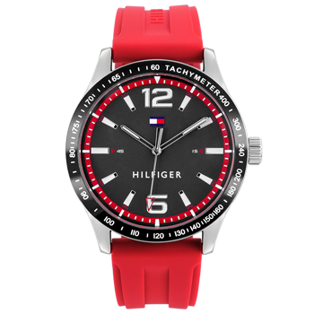 e83a8ffc470 Relógio Tommy Hilfiger Masculino Borracha Vermelha - 1791535