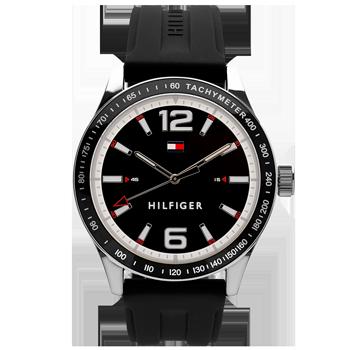 a62ce39e358 Relógio Tommy Hilfiger Masculino Borracha Preta - 1791541