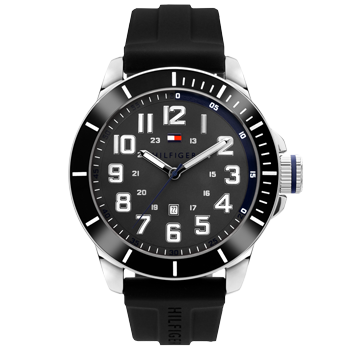 d8dd585be4f Relógio Tommy Hilfiger Masculino Borracha Preta - 1791545