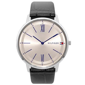 f0f3bc8e0cc Relógio Tommy Hilfiger Masculino Couro Preto - 1710370