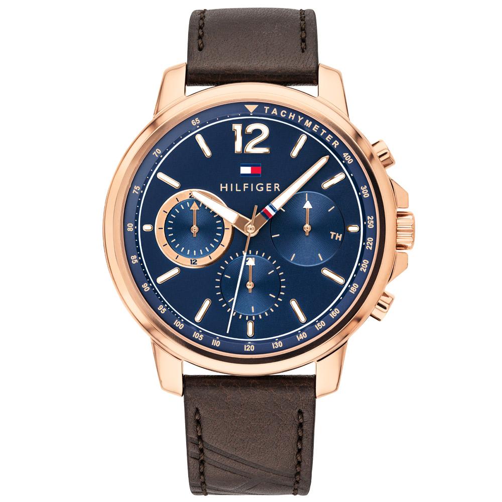 60ef85a96ed Relógio Tommy Hilfiger Masculino Couro Marrom - 1791532