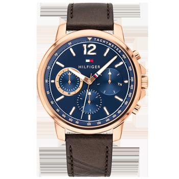 18f55b81d89 Relógio Tommy Hilfiger Masculino Couro Marrom - 1791532