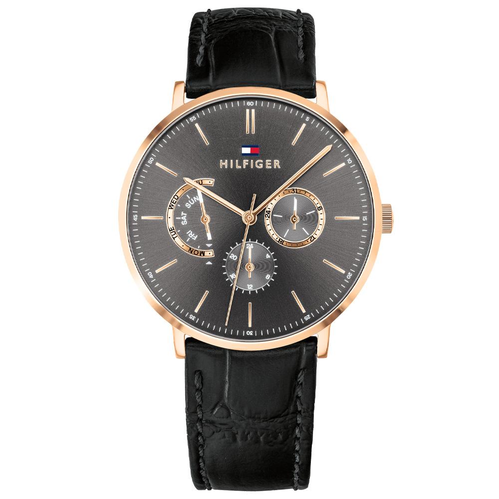 ae060bdd62e Relógio Tommy Hilfiger Masculino Couro Preto - 1710377
