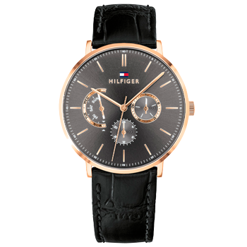 964f4bf769b Relógio Tommy Hilfiger Masculino Couro Preto - 1710377