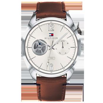b3034bcef57 Relógio Tommy Hilfiger Masculino Couro Marrom - 1791550