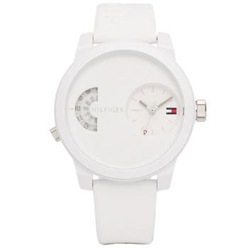 dda6ef85525b0 Relógio Tommy Hilfiger Masculino Borracha Branca - 1791558