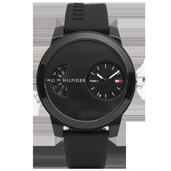 Relógio Tommy Hilfiger Masculino Borracha Preta - 1791555 78d1c1fdb8