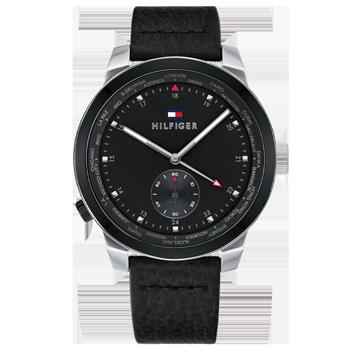 48bbaf8770b Relógio Tommy Hilfiger Masculino Couro Preto - 1791552