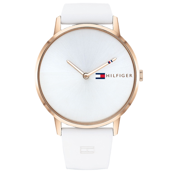 99b8c0d1cad Relógio Tommy Hilfiger Feminino Borracha Branca - 1782002