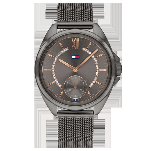 15e5bdee91c Relógio Tommy Hilfiger Feminino Aço Cinza - 1782005