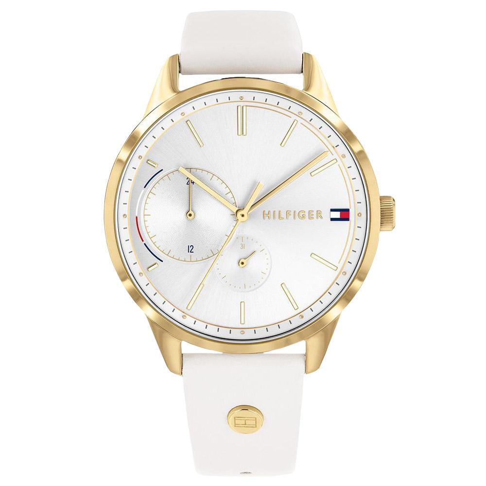 42a541b59 Relógio Tommy Hilfiger Feminino Couro Branco - 1782018