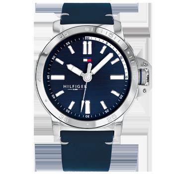 6594ff6eb Relógio Tommy Hilfiger Masculino Couro Azul - 1791591