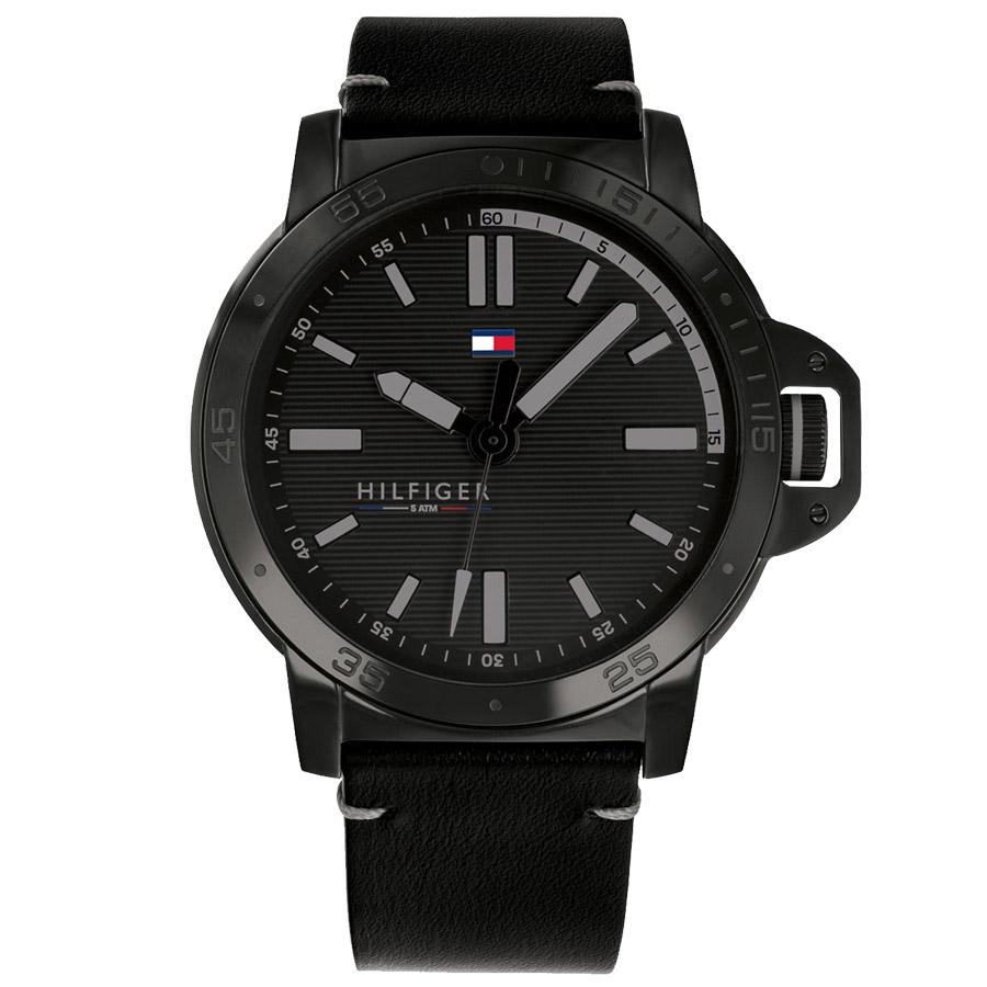 6f91c605d Relógio Tommy Hilfiger Masculino Couro Preto - 1791592
