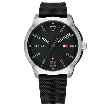 7a4ceb513 Relógio Tommy Hilfiger Masculino Borracha Preta - 1791622