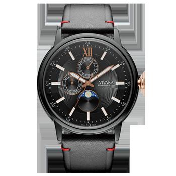 4442f6270ad Relógio Vivara Masculino Couro Preto - DS13461R0B-1