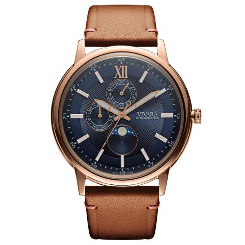 3fce25e75e2 Relógio Vivara Masculino Couro Marrom - DS13461R0C-1