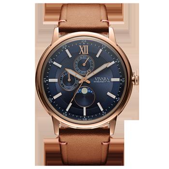 23817763a19 Relógio Vivara Masculino Couro Marrom - DS13461R0C-1
