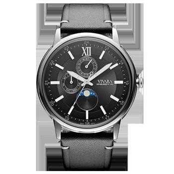 3db611ad4be Relógio Vivara Masculino Couro Preto - DS13461R0A-1