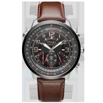 33f5bb84a3a Relógio Vivara Masculino Couro Marrom - DS13464R0F-1