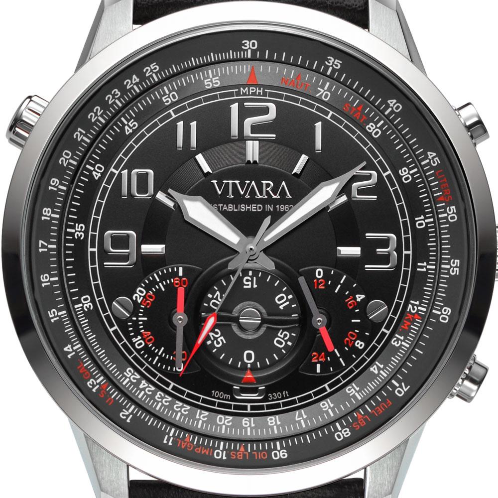 69b4f56afd2 Vivara Relógios Relógio vivara masculino couro preto - ds13464r0b-1. Passe  o mouse para ampliar. Confira o estoque deste produto nas lojas