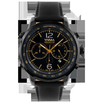 0d26bd86986 Relógio Vivara Masculino Couro Preto - DS13700R0E-2