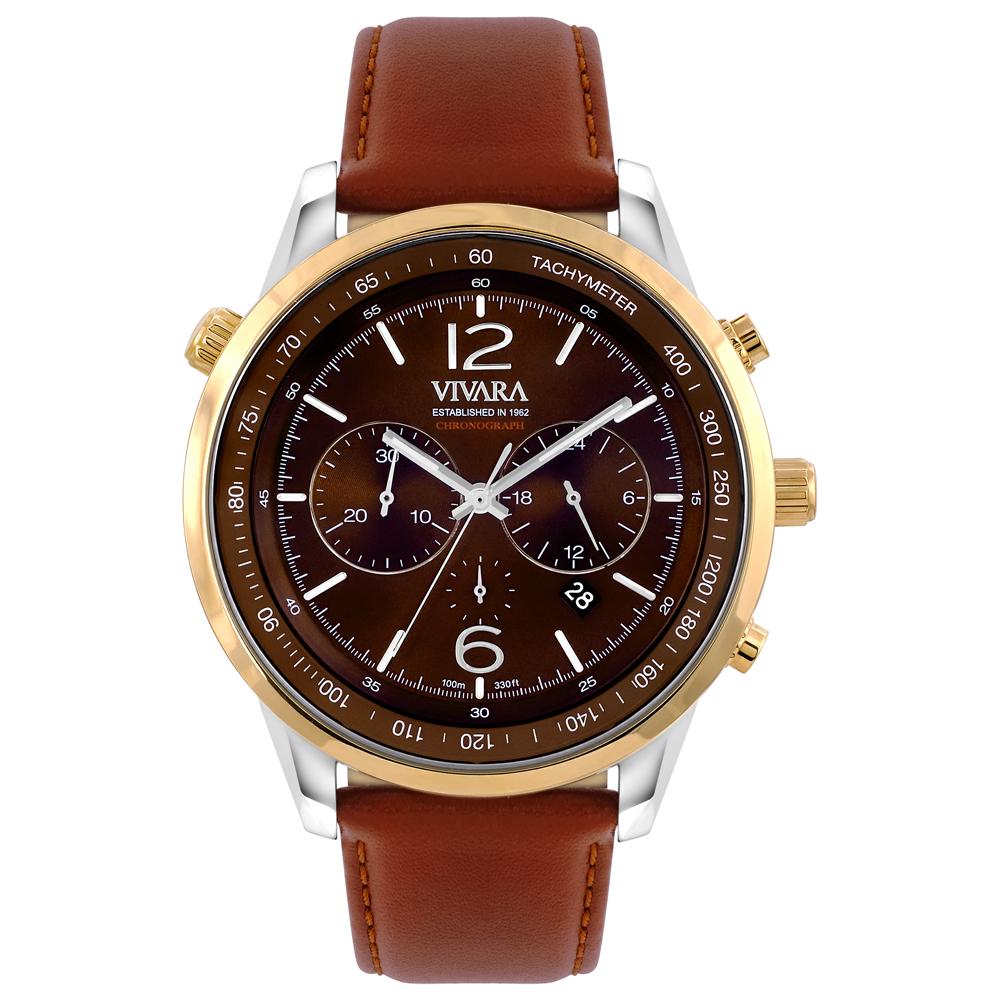 039bef54399 Relógio Vivara Masculino Couro Marrom - DS13700R0J-2