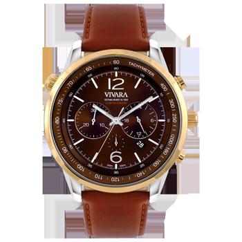 73e97cc70d8 Relógio Vivara Masculino Couro Marrom - DS13700R0J-2