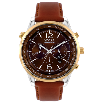 17397c33ebc Relógio Vivara Masculino Couro Marrom - DS13700R0J-2
