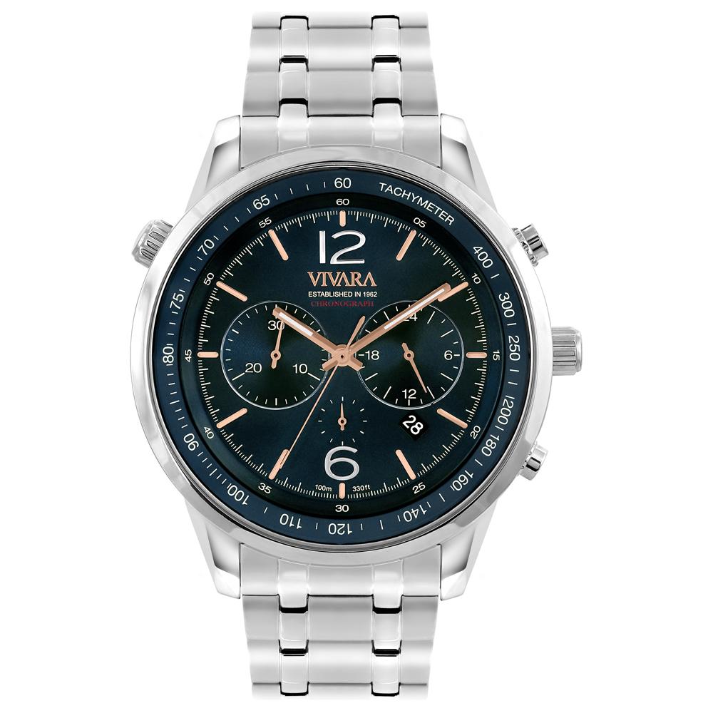 94804e3fe96 Relógio Vivara Masculino Aço - DS13737R0A-1