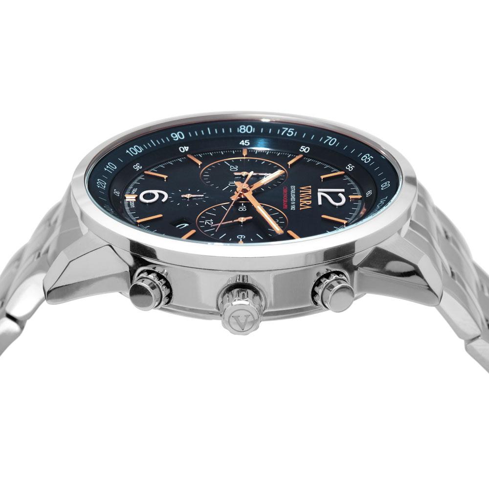 ba29499eb04 Vivara Relógios Relógio vivara masculino aço - ds13737r0a-1. Passe o mouse  para ampliar. Confira o estoque deste produto nas lojas