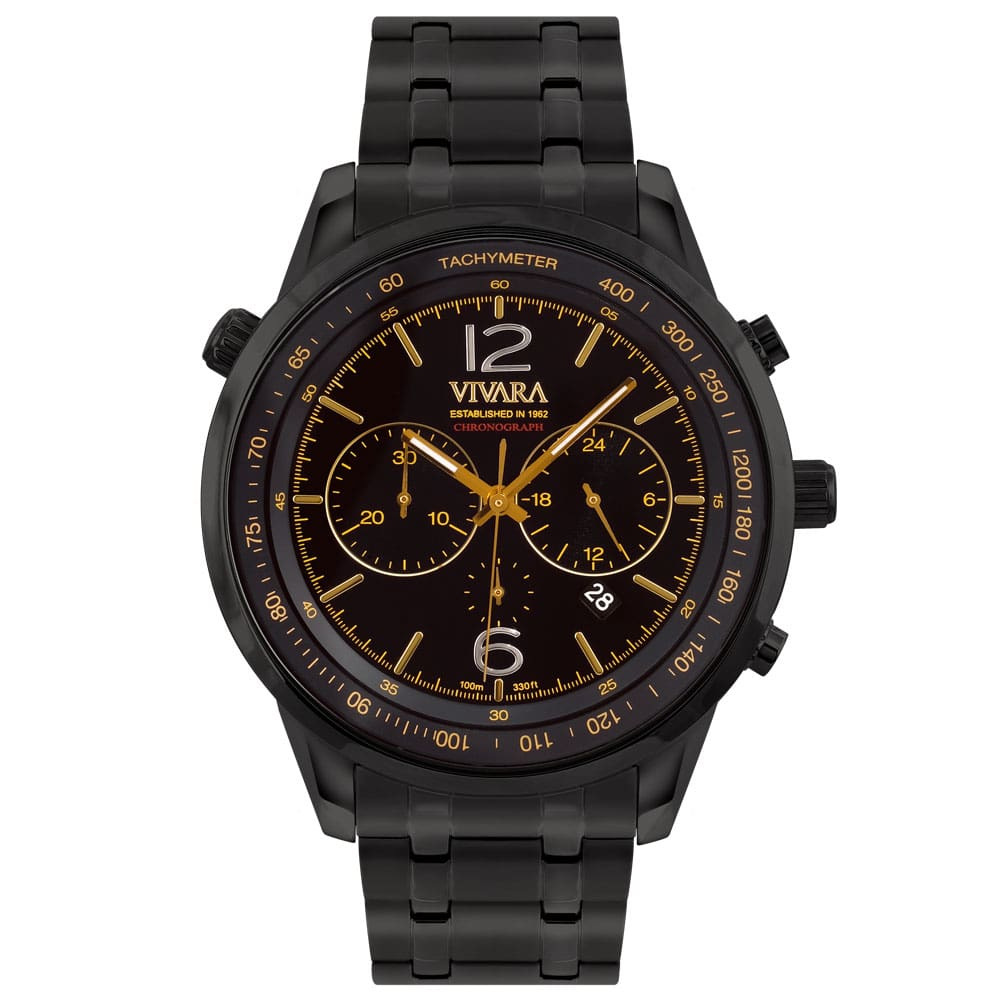95196470e13 Relógio Vivara Masculino Aço Preto - DS13737R0B-1