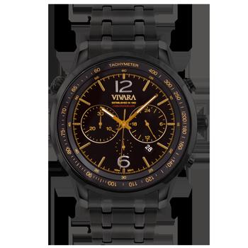 ef45e9f6c4a Relógio Vivara Masculino Aço Preto - DS13737R0B-1