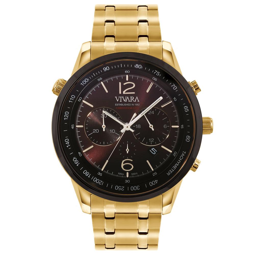 af182b1e22e Relógio Vivara Masculino Aço Dourado - DS13737R0C-1