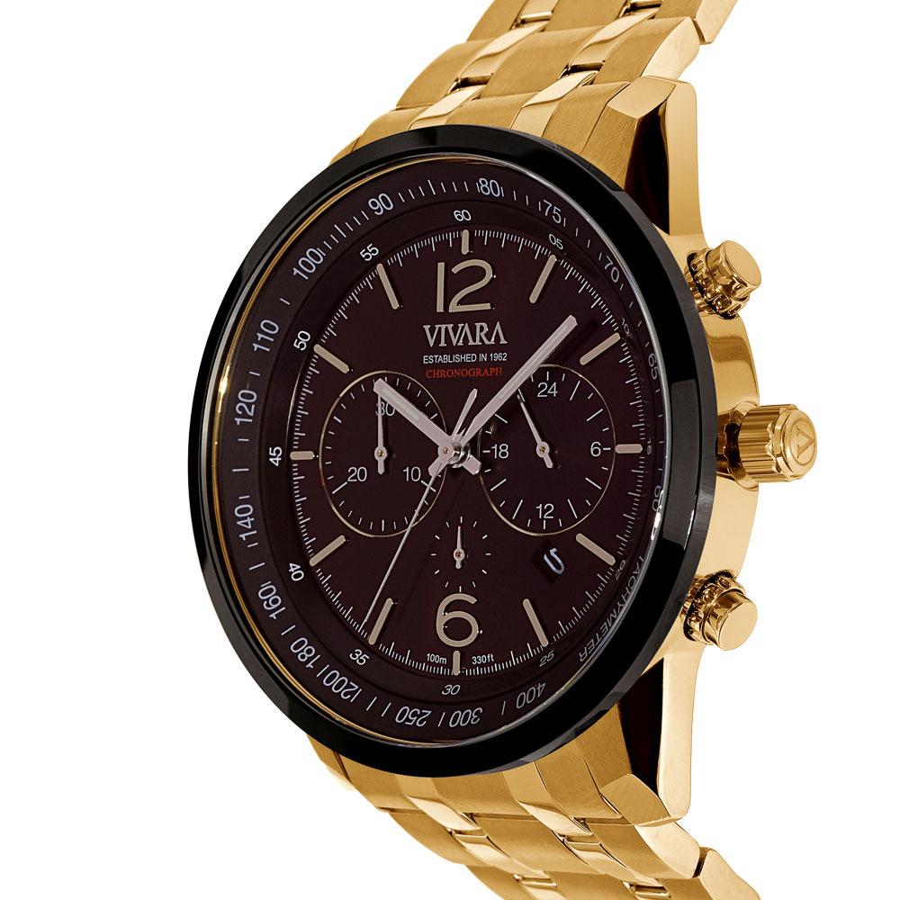 9fe870731b1 Vivara Relógios Relógio vivara masculino aço dourado - ds13737r0c-1. Passe  o mouse para ampliar. Confira o estoque deste produto nas lojas