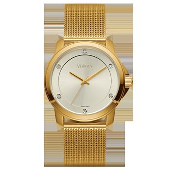 12d8b05db05 Relógio Vivara Feminino Aço Dourado - DS13694R0A-5