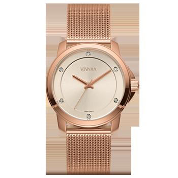 f09c2c1cf9c Relógio Vivara Feminino Aço Rosé - DS13694R0B-5