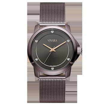 ae302a70515 Relógio Vivara Feminino Aço Marrom - DS13694R0C-5