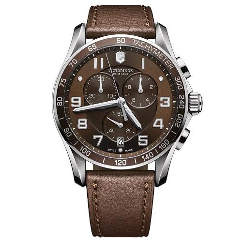 00b1e213b64 Relógio Victorinox Swiss Army Masculino Couro Marrom - 241653