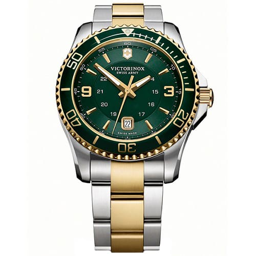 35419406141 Relógio Victorinox Swiss Army Masculino Aço Prateado e Dourado - 241605