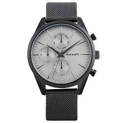 9bc437c5d48 Relógio Akium Masculino Aço - WHITE-03B98GB01