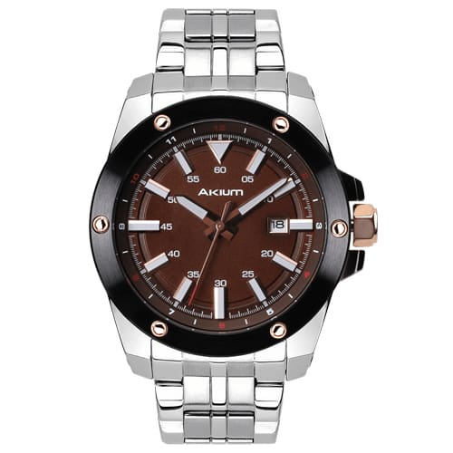 8d9f1d9af40 Relógio Akium Masculino Aço - 03E47GB02-BROWN