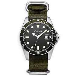 18b9ae37605 Relógio Akium Masculino Nylon Verde - 03E39GL02-VCSS-VX42