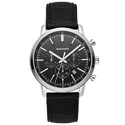 7b2cab88787 Relógio Akium Masculino Couro Preto - 01X56GL06-SS