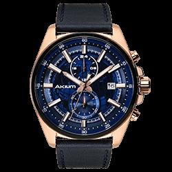 2dd93d2861f Relógio Akium Masculino Couro Azul - 03E56GL01-IPRG
