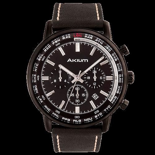 f5557c47b21 Relógio Akium Masculino Couro Preto - 03G10GL01A