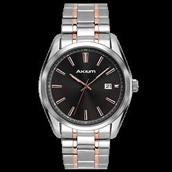 Relógio Akium Masculino Aço Prateado e Rosé - 10059GB05B-GUN 24f7bc3b39