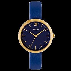 Relógio Akium Feminino Couro Azul - 03F53FL02D e5f0fd0aae