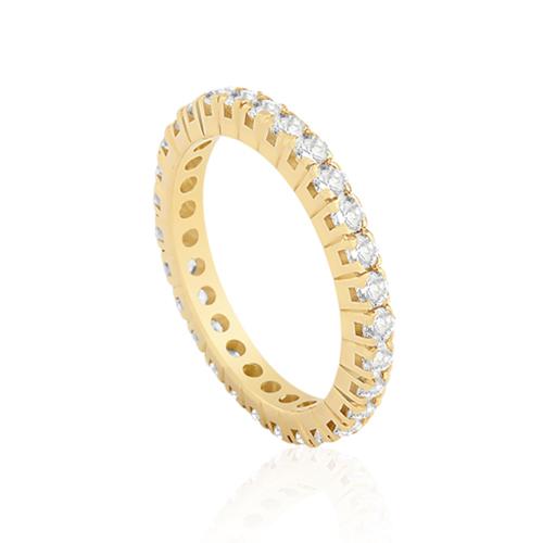 8dc942799bb68 Aliança de Casamento Ouro Amarelo Diamantes - Colecao Meia Aliança