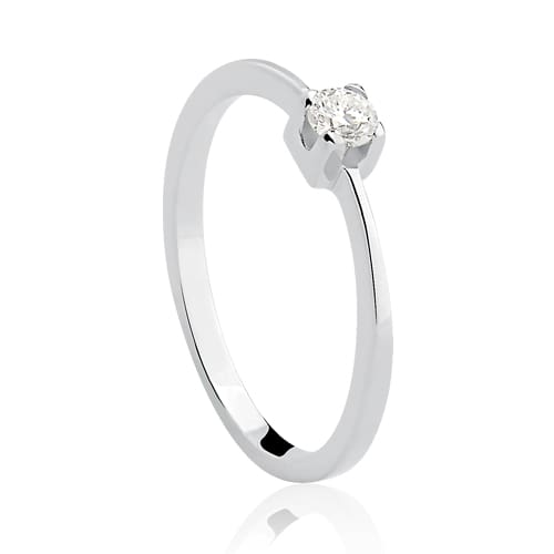6597cbb0c0099 Solitário Ouro Branco e 12 Pontos de Diamantes - Colecao Solitário